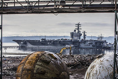 Nimitz - Port Of Everett Art Print
