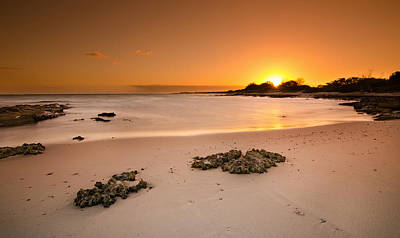 Photograph - Nimitz Beach Sunset - Island Of Oahu by Tin Lung Chao