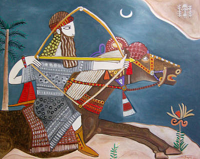 The Assyrian Warrior Original by Karen Serfinski