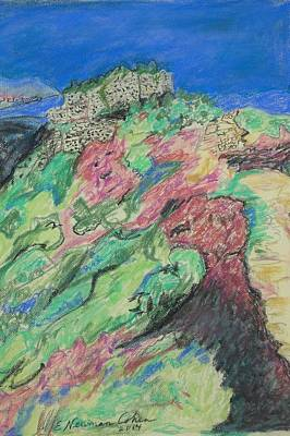 Drawing - Nimrod's Fortress by Esther Newman-Cohen