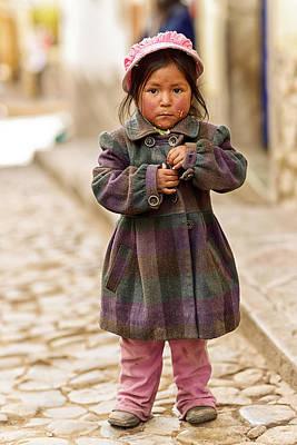 Nina In Cuzco Peru Art Print by Gabriele Ardemagni