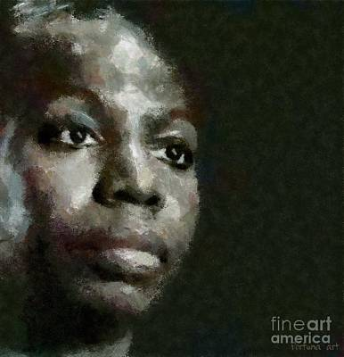 Portraits Mixed Media - Nina Simone by Dragica  Micki Fortuna