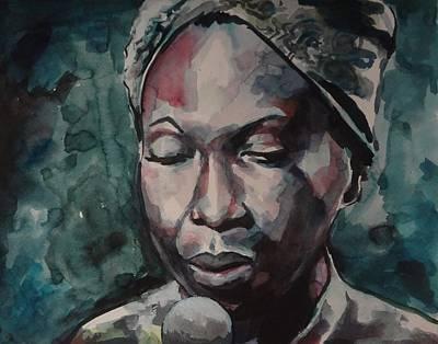 Black History Painting - Nina Simone by Matthew OHanlon
