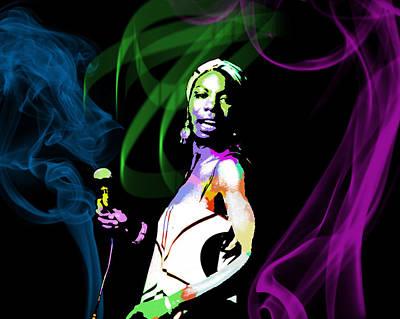 Nina Simone Art Print by Michael Jadach