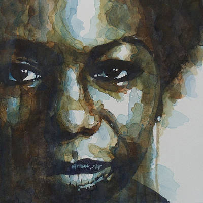 Lips Painting - Nina Simone by Paul Lovering