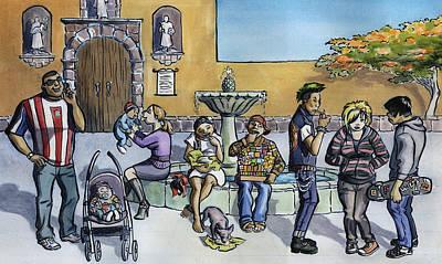 Ninaji Y La Diversidad Mexicana Art Print by Isis Rodriguez