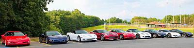 Photograph - Nine Corvettes Is A Team by Simply  Photos