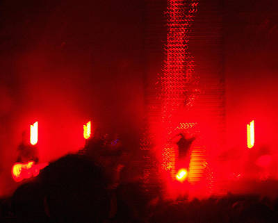 Photograph - Nine Inch Nails Concert Lights - Violent Red by Shawna Rowe