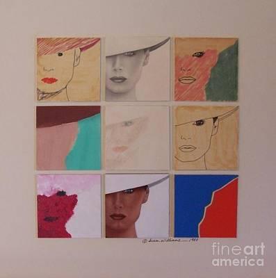 Nine Ladies Lolling Art Print by Susan Williams