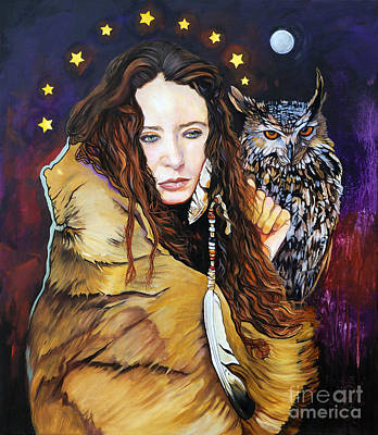 Nine Stars Woman / Owl Medicine Art Print