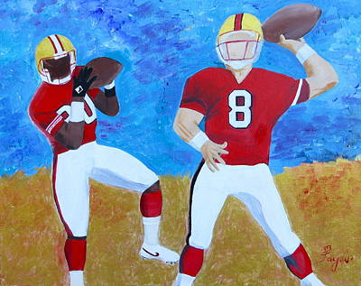 Painting - Niners Classic Duo by Artistic Indian Nurse