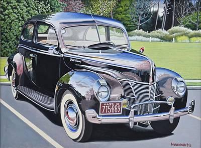 Nineteen Forty Ford Deluxe Sedan Original by John Houseman