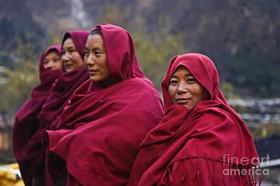Photograph - Ningmapa Nuns - Nepal Himalaya by Craig Lovell