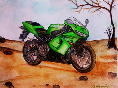 Painting - Ninja 636 by Pristine Cartera Turkus