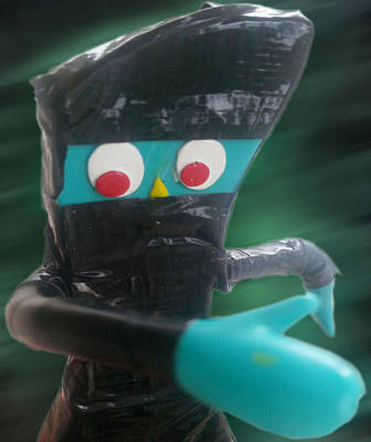Featured Tapestry Designs - Ninja Gumby by Del Gaizo