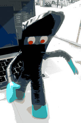 Ninja Gumby Stealth Mode Art Print by Del Gaizo