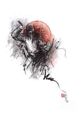 Ninja - Martial Arts Styles Painting Original by Mariusz Szmerdt