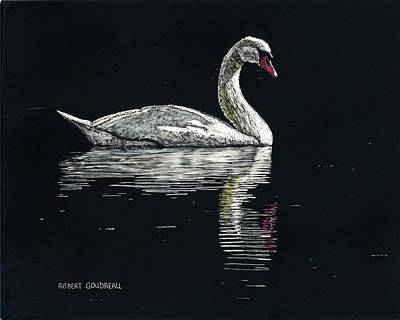 Painting - Nino's Swan by Robert Goudreau