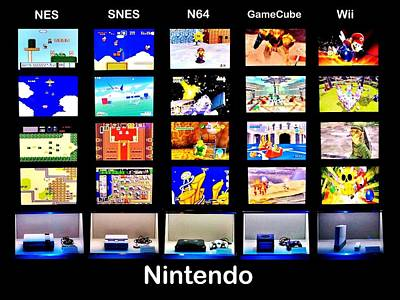 Vintage Video Game Photograph - Nintendo History by Benjamin Yeager