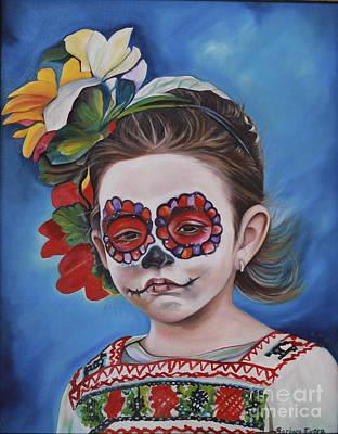 Mexicano Painting - Ninya Muerta 1 by Barbara  Rivera