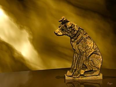 Nipper In Bronze Art Print by John Pangia
