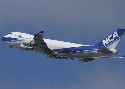Photograph - Nippon Cargo 747-400 F Departs Ksfo  Ja03kz by John King