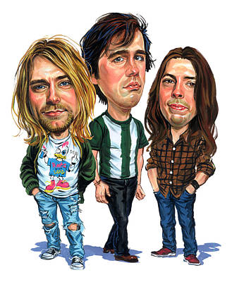 Musicians Paintings - Nirvana by Art