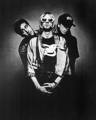 Kurt Cobain Photograph - Nirvana Band by Retro Images Archive