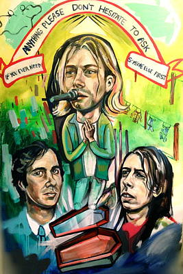 Dave Grohl Painting - Nirvana by Britt Kuechenmeister