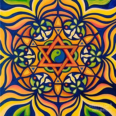Love Triangle Painting - Nirvana by Janis  Cornish
