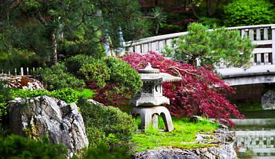 Nishinomiya Japanese Garden Art Print by Chris Heitstuman