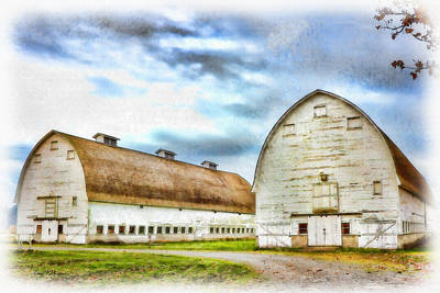 Photograph - Farm - Barn - Nisqually Barns - 3 by Barry Jones