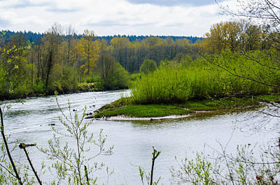 Photograph - Nisqually River From The Nisqually National Wildlife Refuge by Tikvah's Hope