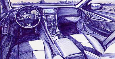 Photograph - Nissan Q50 Interior by Richard Erickson