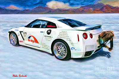 Nissan Salt Flats Art Print