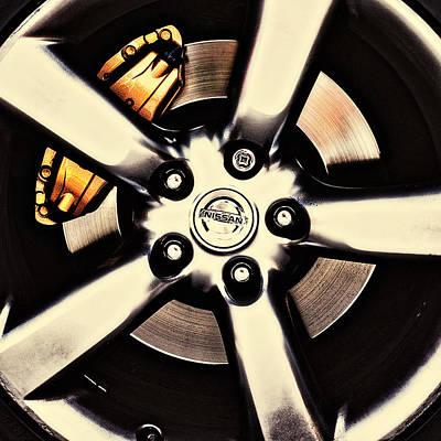 Photograph - Nissan Zx Wheels 2 by Meirion Matthias