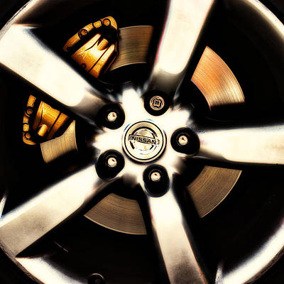 Photograph - Nissan Zx Wheels by Meirion Matthias