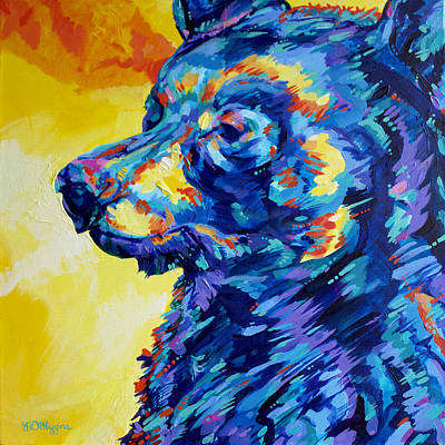 Whistler Painting - Nita Lake Bear by Derrick Higgins