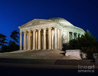 Photograph - Nite At The Jefferson Memorial by Nick Zelinsky