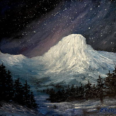Painting - Nite Fall On The Butte by Fred Wilson
