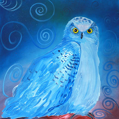 Painting - Nite Owl by Amy Reisland-Speer