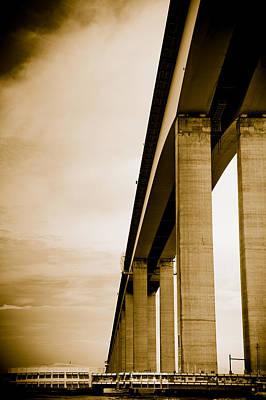 Photograph - Niteroi Bridge In Brazil by Celso Diniz