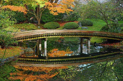 Photograph - Nitobe Memorial Garden, A Traditional by Michael Wheatley