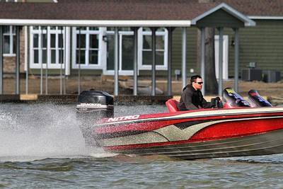 Lakeview Photograph - Nitro Boat by Dan Sproul