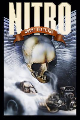 Drag Mixed Media - Nitro by Todd Corey