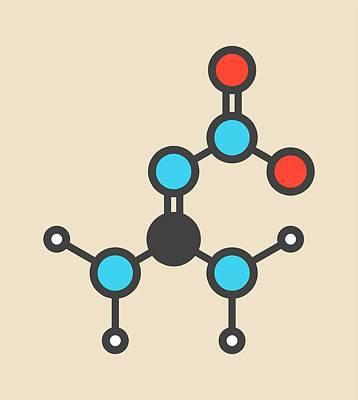 Nitroguanidine Explosive Molecule Art Print by Molekuul