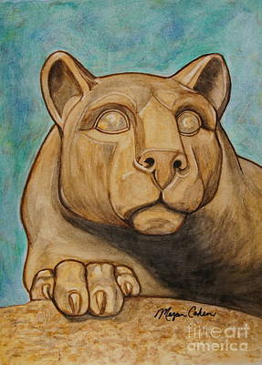 Wall Art - Painting - Nittany Lion by Megan Cohen