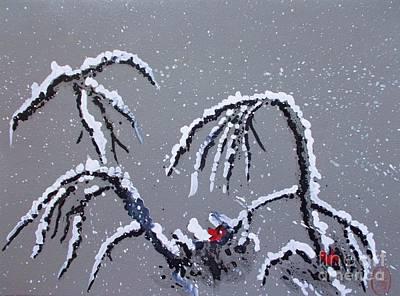 First Snow Painting - Niwa Ni Hatsuyuki  2  by Roberto Prusso