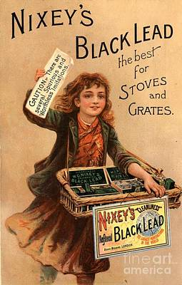 Nixey�s 1890s Uk Black Lead  Products Art Print by The Advertising Archives