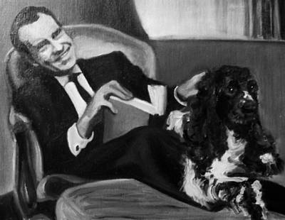 Painting - Nixon And Checkers by Martha Suhocke